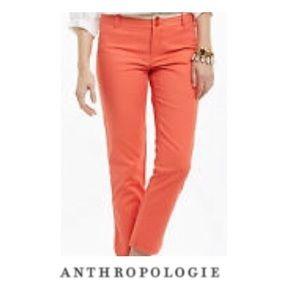 Anthropologie Cartonnier Coral Crop Pants